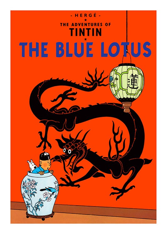 Tintin The Blue Lotus Large Poster