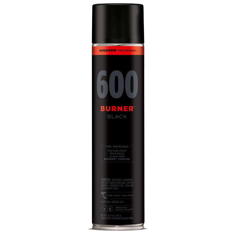 burner black 600ml 1